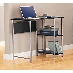 Amazon Com Mainstays Basic Student Desk Black And Silver
