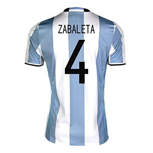 小道セーブ手を差し伸べるZabaleta #4 Argentina Home Soccer Jersey Copa America Centenario 2016/サッカーユニフォーム アルゼンチン ホーム用 サバレタ 背番号 4