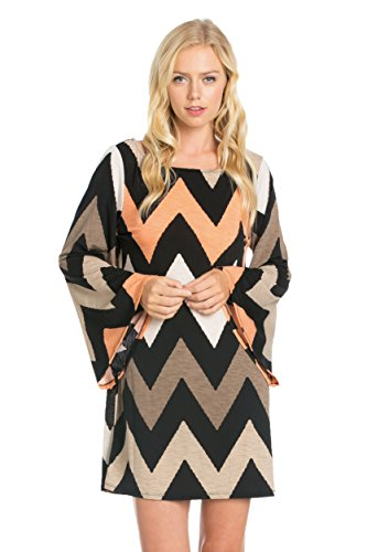 auditions-women-round-neck-chevron-pattern-bell-sleeve-dress-made-in-usa-3xl-taupe