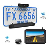 Solar Wireless Backup Camera Kit, 5 Mins DIY Installation, 5-inch Monitor and HD Image Rear View Camera for Cars and Medium Sized Vehicles by AUTO-VOX (Solar 1)