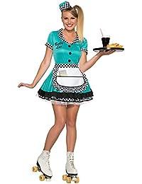 Women's Betty Lou 50's Diner Waitress Costume
