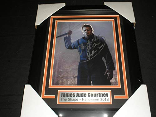 JAMES JUDE COURTNEY Signed Michael Myers 8x10 Photo FRAMED Autograph 2018 Halloween B ()