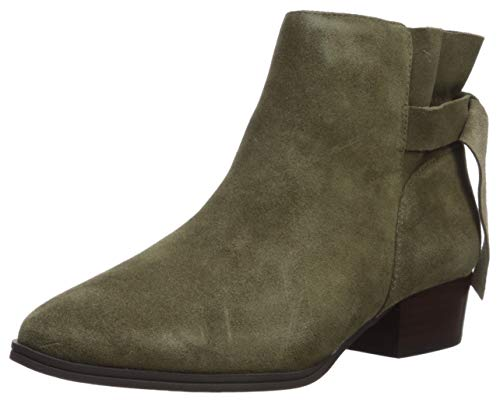 Aerosoles Women's Crosswalk Ankle Boot, Green Suede, 9.5 W US