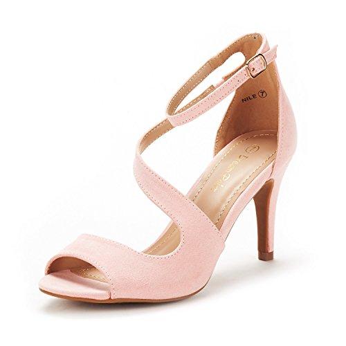 - DREAM PAIRS Women's NILE Pink Fashion Stilettos Open Toe Pump Heel Sandals Size 6.5 B(M) US