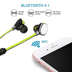 Bluetooth Headphones,AOKII Noise Cancelling Wireless Earbud Headset for Runing,Workout,Gym,etc