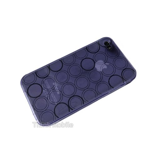 Apple iPhone 5 / 5s Caso Elegante - Azul Silicona TPU Gel Bumper Funda Case Sleeve Skin Para Apple iPhone 5 5s - thinkmobile Kreis Purple