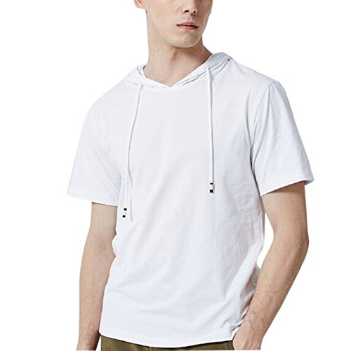 capucha Hombres corta Camisas de Verano shirt Ai Blanco Casual Dailywear deportivas con moichien T manga SZqn8U