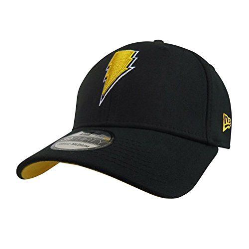 Black Adam Lightning 39Thirty Fitted Hat- Large/XLarge
