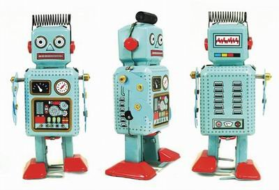 (Mini Radiocon Robot, Metal Robot Winds Up, Tin Toy Collection, 5