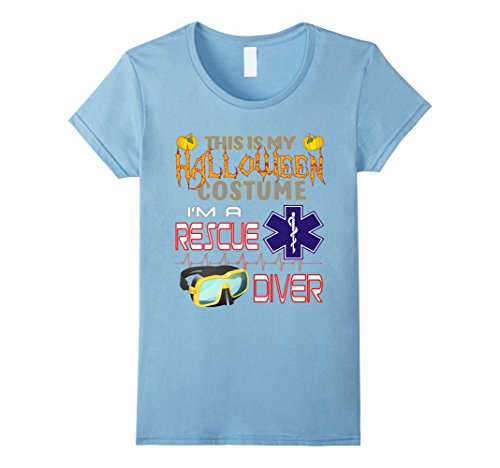 Hard Lady Working Costume (Womens Rescue Diver Halloween Costume Shirt Small Baby)