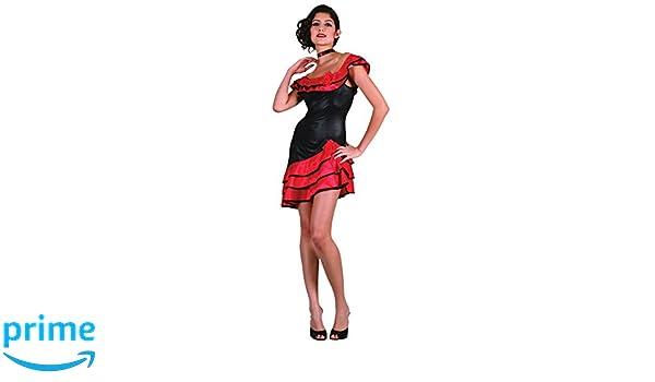 Bristol Novelty AC209 Traje de Gitana Española, Rojo: Amazon ...