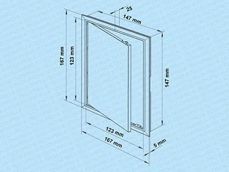 blanc ouverture en plastique porte de r/évision Rabat de r/évision