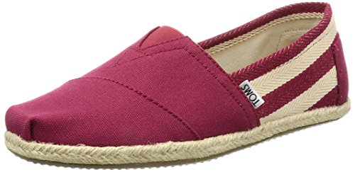 -  TOMS Men's Classic Canvas Slip-On, Red Stripe University - 9.5 D(M) US