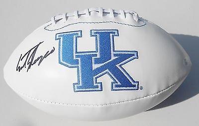 Mark Stoops Signed Kentucky Wildcats Logo Football w/JSA COA