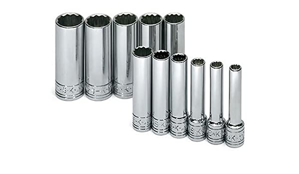 SK 4815 15 Piece 1//2-Inch Drive 12 Point Deep 3//8-Inch to 1-1//4-Inch Socket Set