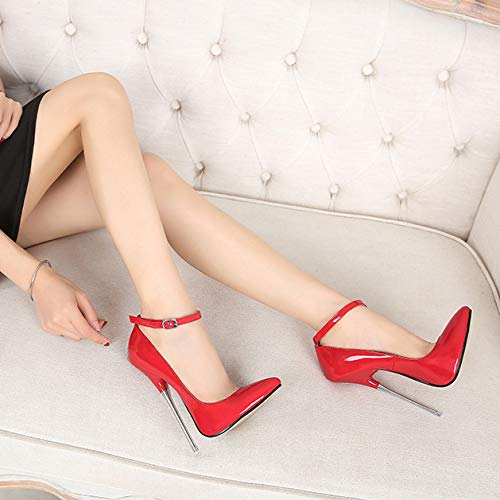Red Ankle Strap Sexy Pump Zpffe Stiletto Stiletto Femme Stiletto 8xxqYvS