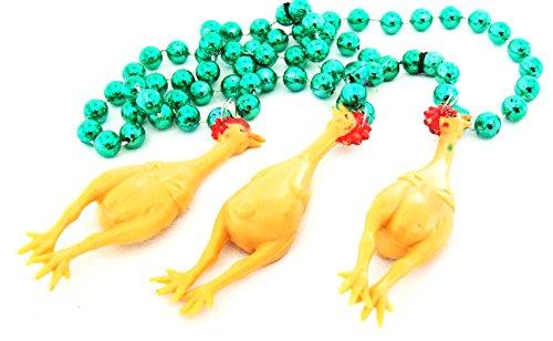 Rubber Chicken Chickens Necklace New Orleans Mardi Gras Spring Break Cajun Carnival Festival
