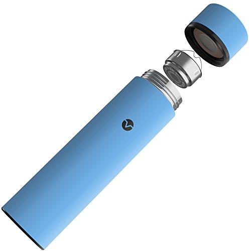 Vremi VRM020258N Traverse Coffee Mug Thermos Water Bottle, 17 oz, Blue