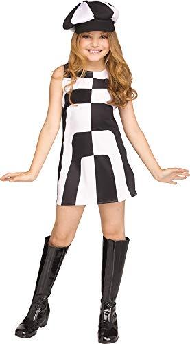 Fun World Mod 60'S Girl Child Costume, Medium, -