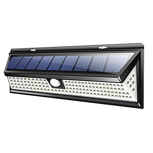 Solar Lights Outdoor, Busidna Waterproof with PIR Motion Sensor Solar Powered Motion Sensor Lamp Waterproof & Wire Free Wall Lights for Outside Doors, Garden, Pathway, Garage, Step and - Garden Step Back