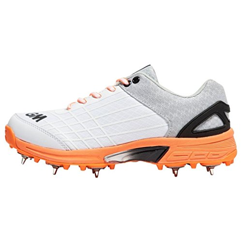 Gunn & Moore Original Spike Junior Shoe, Zapatillas de Cricket Unisex Adulto White (Red)
