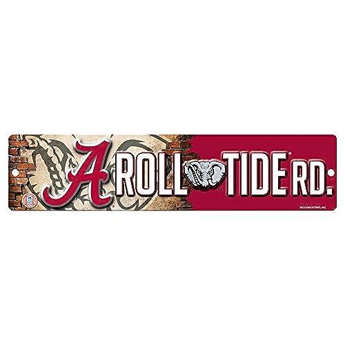 Rico NCAA Alabama Crimson Tide 16 Inch Plastic Street Sign Décor