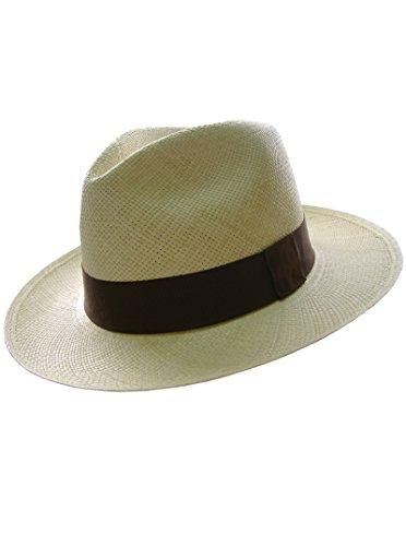 Gamboa Genuine Unisex Panama Hat Elegant Straw Hat White