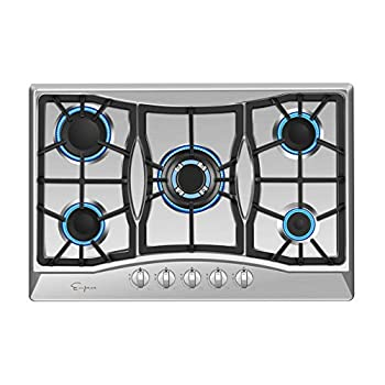 Image of Empava 30' Stainless Steel 5 Italy Sabaf Burners Stove Top Gas Cooktop EMPV-30GC0A5 Home Improvements