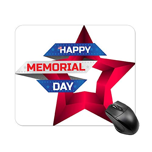 Uclipers Gaming Mouse Pad, Memorial Day Greeting Card with The Nation Print Art Mouse Pads for Computers -