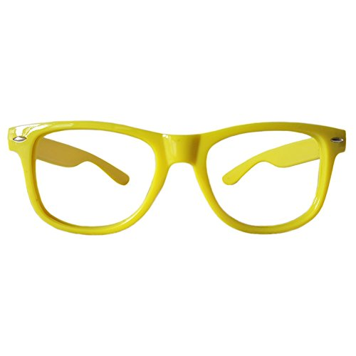 Comfortable Young Classic Retro Fashion Style Ultra-light Glasses Eyewear Frames -NO LENSES - Frame Yellow