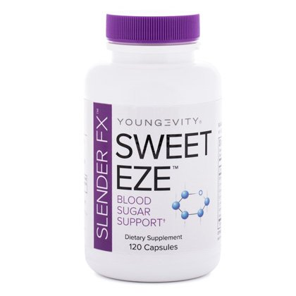 Blood Sugar Support SLENDER FX SWEET EZE - 120 CAPS - 5 Pack by Youngevity