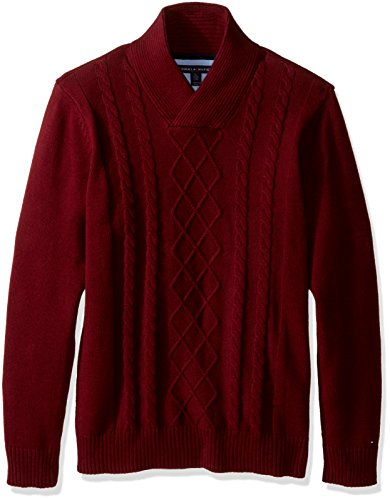 Tommy Hilfiger Shawl Cable Sweater
