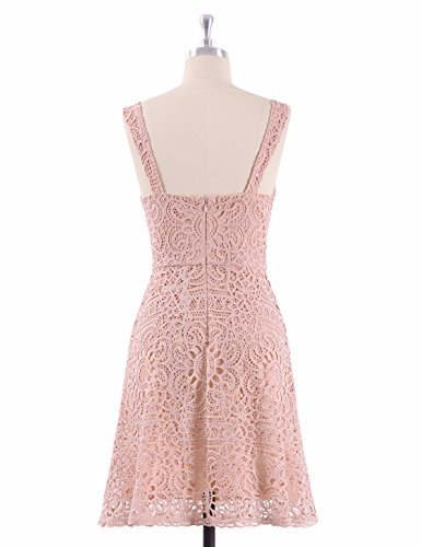 Ever-Pretty Sexy Lace Sleeveless Fit Bridesmaids Dress For Women 12 US Pink