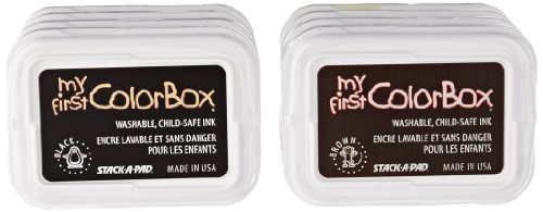 (Clearsnap My First ColorBox Washable Stamp Pads - 2 7/8 x 2 inches - Set of 8 - Assorted)