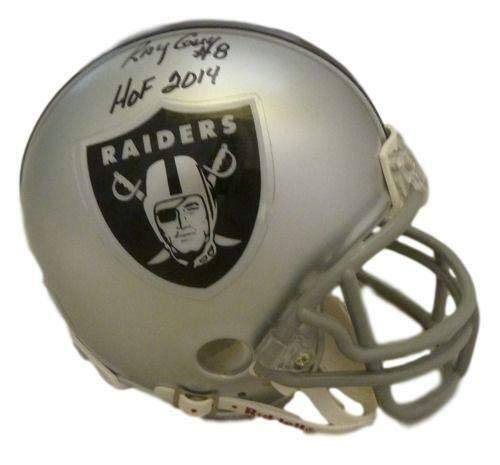 - Ray Guy Autographed Oakland Raiders Mini Helmet w/HOF 2014 & JSA
