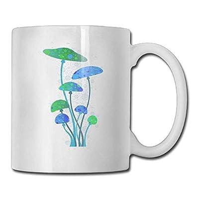 AUUOCC Coffee Mug Funny Birthday Happy Mushroom Family Ceramic Tea Cup nice