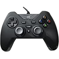 USB Wired Gaming PC Controller for Computer Laptop (Windows 10/8.1/8/7/XP)/PS3 Plasytation 3/Android Devices/PC360/TV Box Game with Dual Turbo Vibration by H3