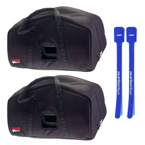 Gator GPA-E15 Speaker Bag for 15'' EON 15 PA Speaker Pair w/ Cable Ties by Gator Cases