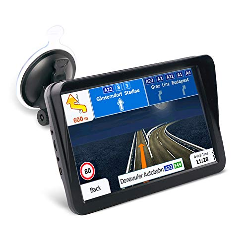 JCSKY GPS Navigation for Truck, 9inch 256MB 8G High Brightness Capacitive Screen Touch Sat Nav, FM Function, Voice Guidance Lane, Support Multiple Languages