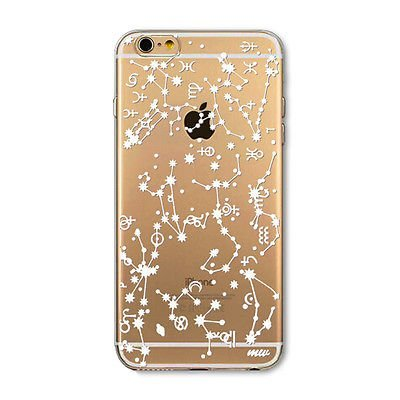 various colors ea75f 38695 iPhone 7 Plus , Colorful Rubber Flexible Silicone Case Bumper Clear Cover -  Zodiac Constellations Sun Moon Sign Star Lights