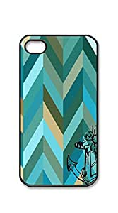 TUTU158600 Print Hard Shell iphone 4 case for teen girls hipster - Anchors jagged color