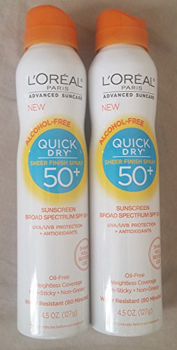 (2 Pack)-L'Oreal Paris Advanced Suncare  - Quick Dry Sport Sunblock Spray Shopping Results