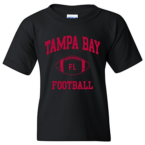 (Tampa Bay Classic Football Arch American Football Team Sports Youth T Shirt - X-Large - Black)