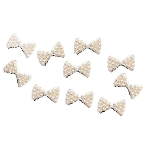 TOOGOO(R) Set de 10 Perles Noeuds Papillon 3D Manucure Nail Art Pierres Decorations SODIAL
