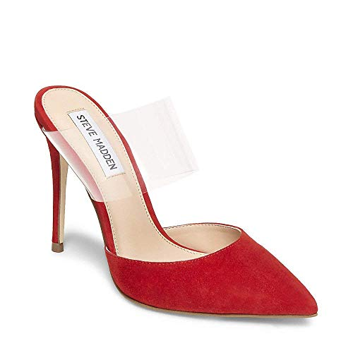 Daydream Red Closed Steve Us 0 Suede Women's 7 Madden Dress gqwgaE1v