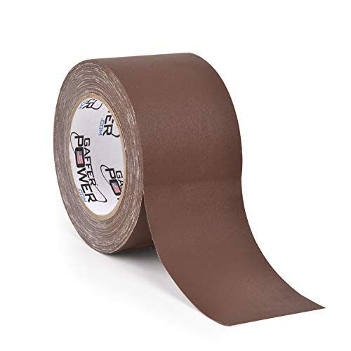 (Real Professional Premium Grade Gaffer Tape by Gaffer Power - Made in The USA - Brown 3 Inch X 30 Yards - Heavy Duty Gaffers Tape - Non-Reflective - Multipurpose - Better Than Duct Tape)
