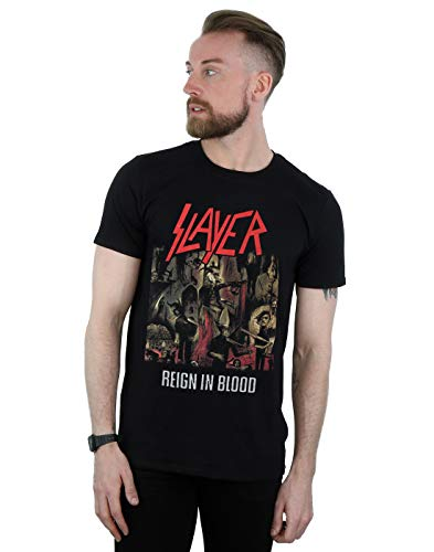 Slayer Men's Reign in Blood T-Shirt Black XX-Large from Absolute Cult