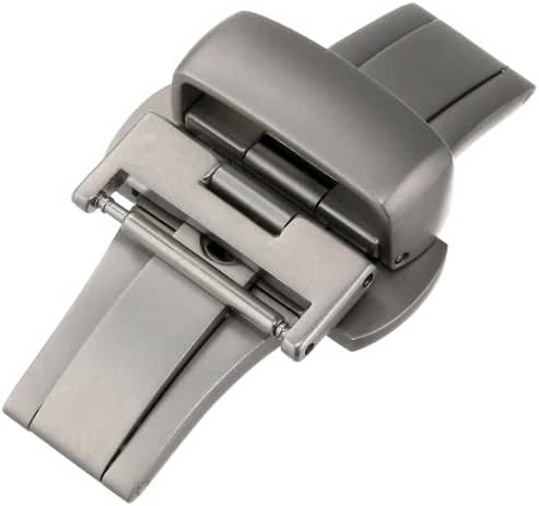 Hadley-Roma 16-mm Stainless Steel Push Button Deployant Clasp