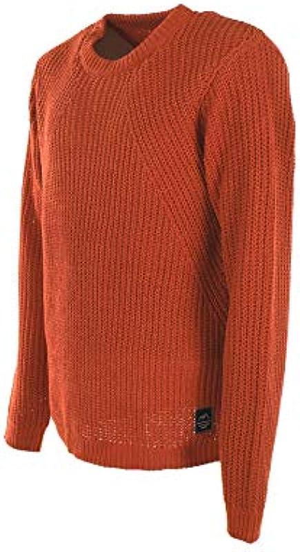 Jack&Jones Pullover Męskie XXL Langarm Orange 12161875 JORCHEN KNIW Crew Neck Chili Knit FIT: Odzież
