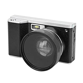 Dpofirs 1080P Digital Camera with IPS HD Touch Screen, 0.45 X Wide Angle Lens 8X Digital Zoom Photography Camera with Built-in Microphone for Vlog Video Recording, 4 Million Pixels